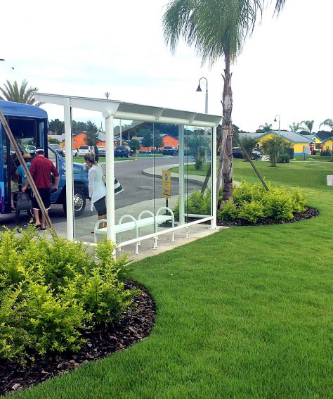 White Eclipse Bus Stop Shelters