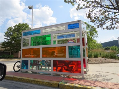 Custom Multi-colored & Tinted Transit Shelter