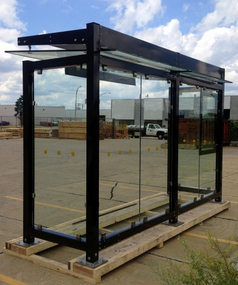 All Glass Bus Shelter