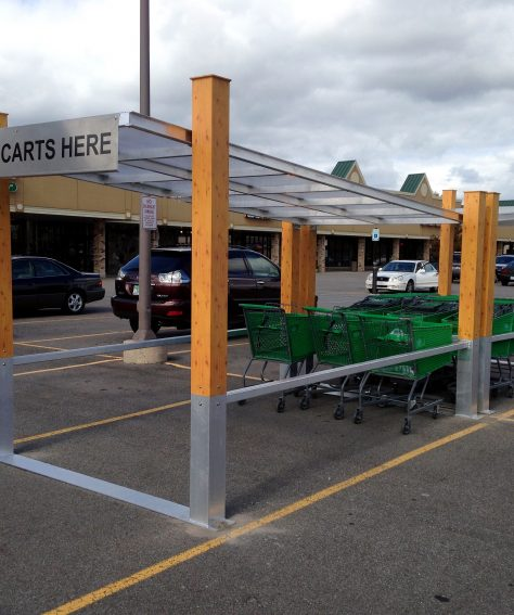 Arbor Series Covered Cart Corral