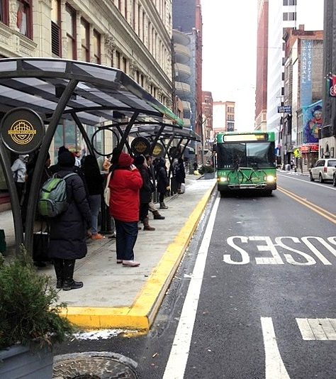 Canopy Style Bus Stop Shelter