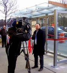 Ribbon-Cutting Celebration for Detroit's Newest Solar-Powered Bus Shelter