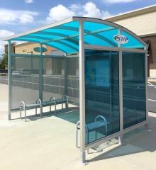 Custom Solar Powered Transit Shelters for PSTA's New Largo Transit Center