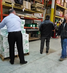 Brasco CEO Hands Out Holiday Turkeys