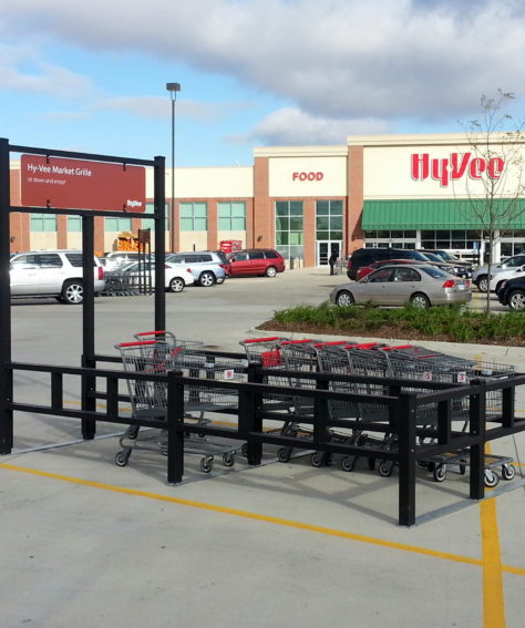 Banner Shopping Cart Corrals for Hy-Vee
