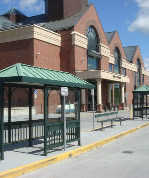 Aluminum Hip Roof Bus Shelters