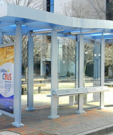 Downtown Columbus Bus Shelters
