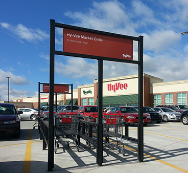 Open Banner Style Shopping Cart Corrals