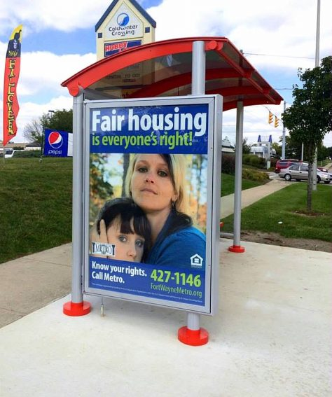 Advertising Bus Shelter
