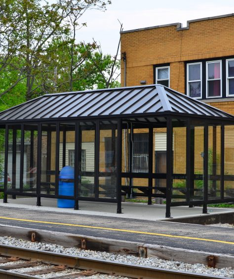 Heated Light Rail Transit Shelter