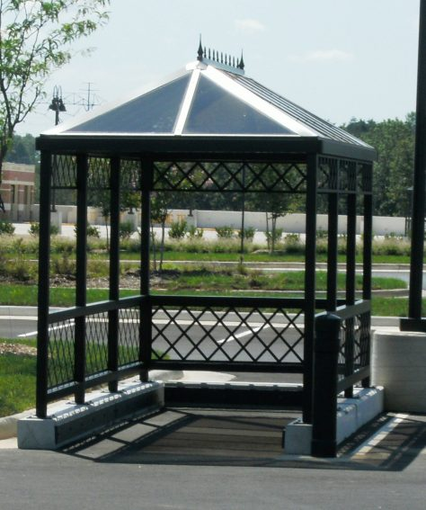 Standing Seam Hip Roof Cart Corral