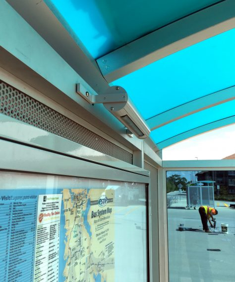 Custom Solar Powered Transit Shelters