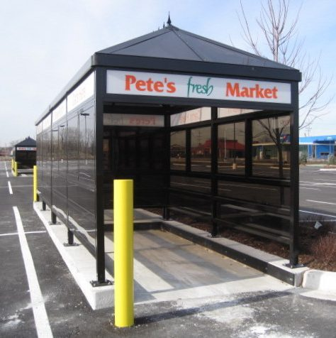 Custom Cart Corral for Pete's Fresh Market