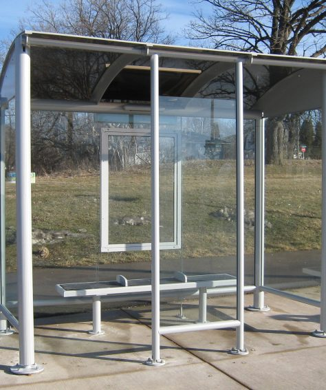 Modern Arch-Roof Solar Powered Bus Stop Shelters