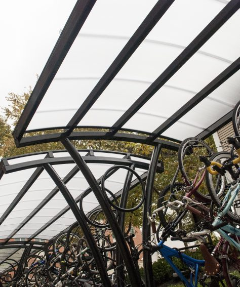 Canopy Roof Bike Shelter