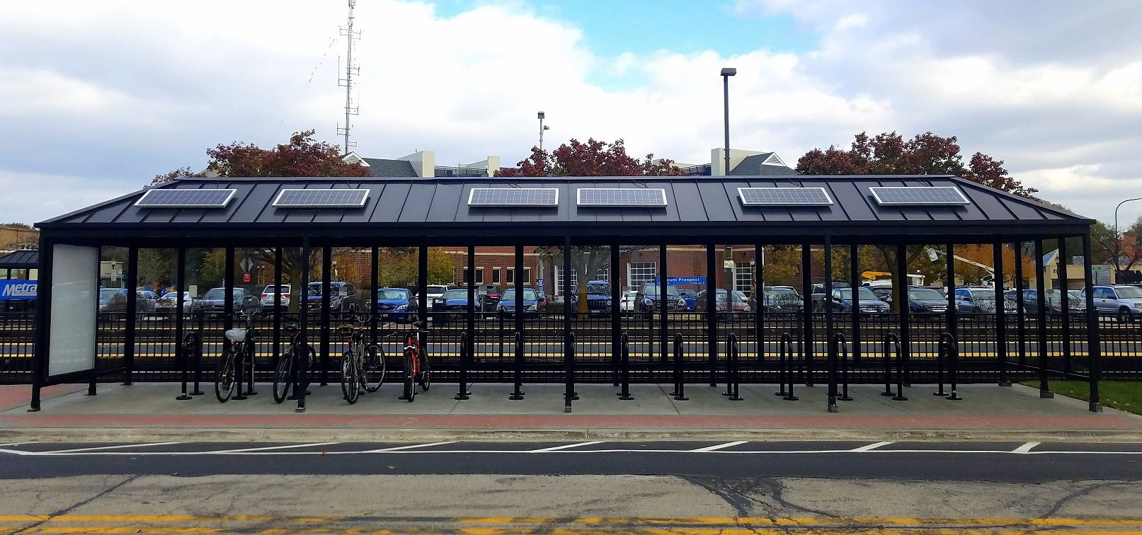 USA Manufacturer of Bus Stop & Transit Passenger Waiting Shelters, Custom Shelters, Transit Solar Lighting Packages, BRT Shelters, Bike and Bicycle Shelters, Shopping Cart Corrals, Covered Walkways, the SolStop, Digital Wayfinding and Advertising Boxs. Made in USA and is Buy America Compliant.