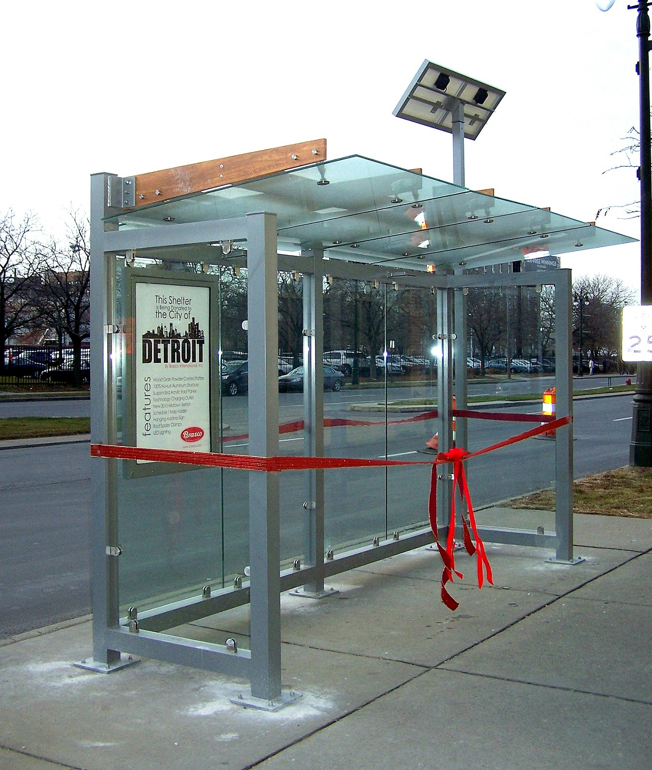 solar powered bus shelter, usa made shelter, shelter manufacturer