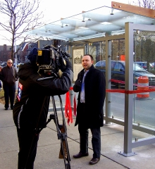 Ribbon-Cutting Celebration for Detroit's Newest Solar-Powered Bus Shelter