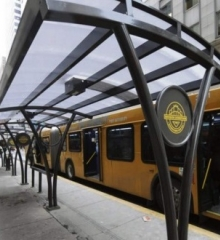 Downtown Pittsburgh Adds New Solar Powered Bus Shelter