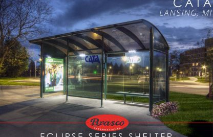 Eclipse Series Shelter for Capital Area Transit Authority (CATA) in Lansing, Michigan
