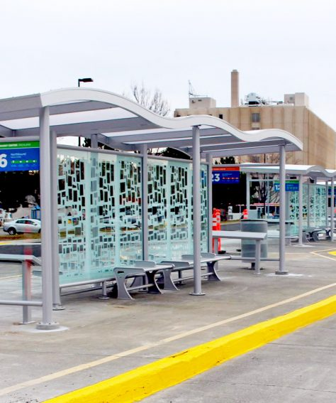 Custom Wave Roof Shelter for Ben Franklin Transit